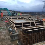 Laying foundations to windfarm substation