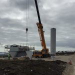 Installing the new turbines