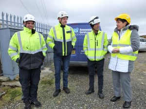 Visit of Danish Ambassador to Gweedore Windfarm